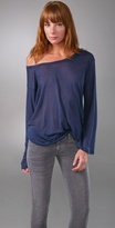 Crew Neck Top with Long Sleeves