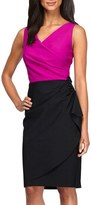 Alex Evenings Petite Women's Colorblock Sheath Dress