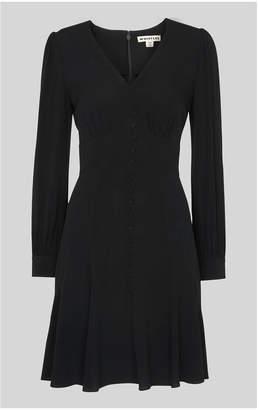 Whistles Short Button Through Dress