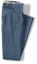 Classic Men's Straight Fit Jeans-Washed Navy