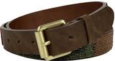 Marc Jacobs Dark Brown Beaded Leather Belt