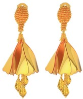 Oscar de la Renta Small Impatiens C Earrings Earring