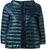 Herno collarless down jacket - women - Cotton/Feather Down/Polyamide/Polyester - 42