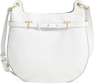 Ted Baker Hillier Exotic Croc Embossed Leather Hobo Bag