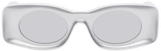 Loewe Grey and White Paulas Ibiza Square Sunglasses