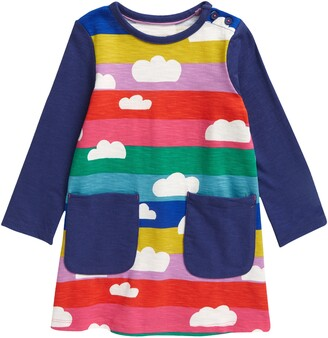 Boden Kids' Fun Pocket Rainbow Jersey Dress