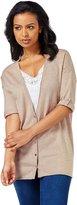 Wool Overs Women's Silk & Cotton Deep V Cardigan