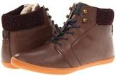 Fred Perry Garnett Leather (Dark Chocolate/Navy) - Footwear