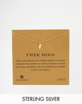 Dogeared Gold Plated Free Bird Feather Charm Necklace