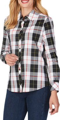 Foxcroft Diane Sinclair Tartan Wrinkle-Free Shirt