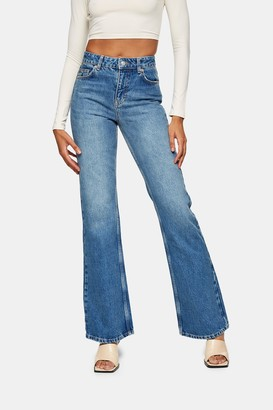 Topshop Mid Stone 90s Flare Jeans