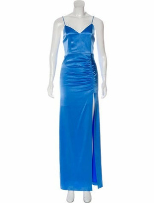 Alice + Olivia V-Neck Long Dress w/ Tags Blue