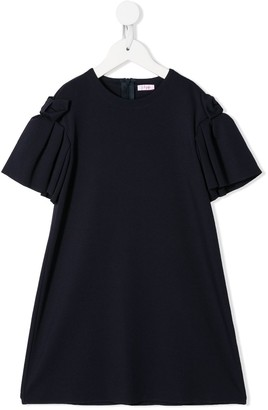 Il Gufo Ruffled Bow Detail Dress