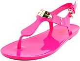 MICHAEL Michael Kors MK Plate Jelly Women US 5 Pink Thong Sandal