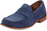 Cole Haan Topsail Penny II Suede Loafer, Blue