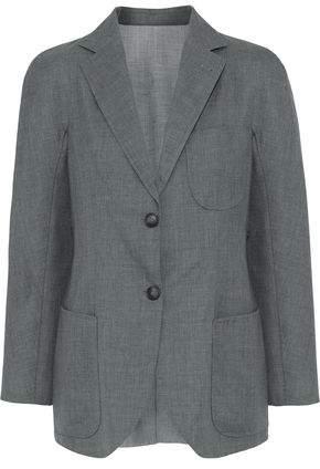 Giorgio Armani Mélange Wool And Silk-Blend Woven Blazer