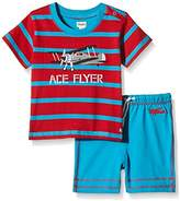 Hatley Baby Boys 0-24m Infant Tee & Shorts Fighter Planes Clothing Set