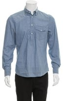 Brunello Cucinelli Abstract Print Button-Up Shirt w/ Tags