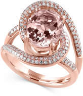 Effy Blush By Morganite (3-1/4 ct. t.w.) and Diamond (1/2 ct. t.w.) Ring in 14k Rose Gold