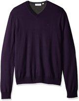 Calvin Klein Men's Merino Menswear Moon and Tipped V-Neck 12gg Sweater