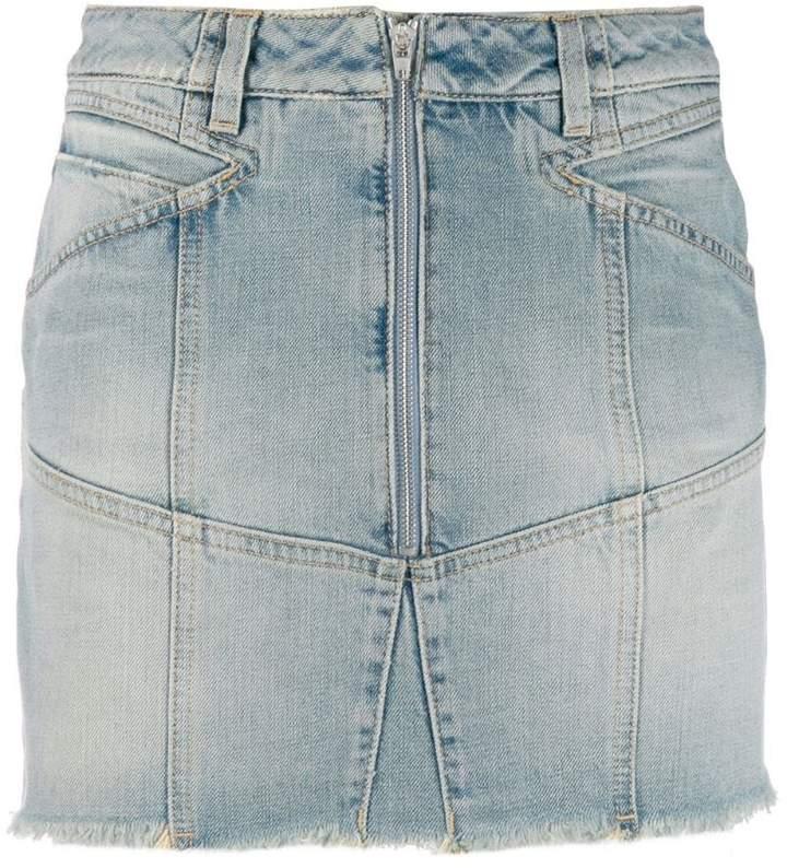 5e662846a Side Zip Denim Skirt - ShopStyle
