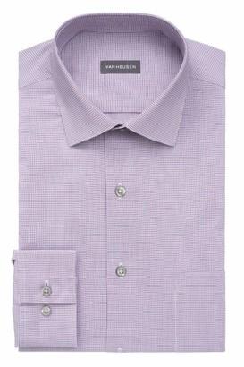 Van Heusen mens Regular Fit Stain Shield Stretch Dress Shirt