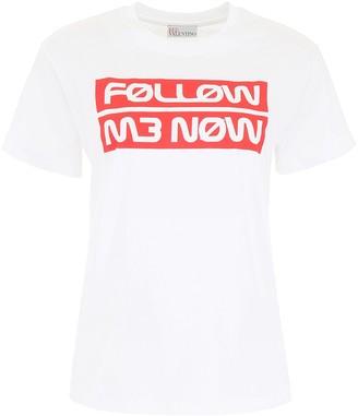 RED Valentino Slogan Printed T-Shirt