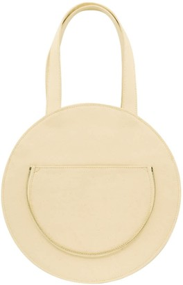Make What You Will Round Flat Tote In White
