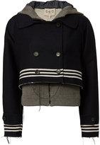 Sea Sweatshirt Combo Striped Jacket