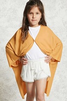 Forever 21 Girls Snap Button Poncho (Kids)