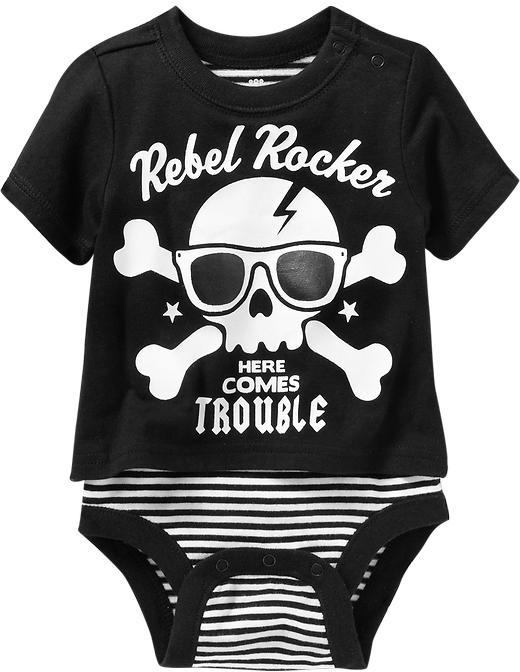 "Old Navy ""Rebel Rocker"" Graphic Tee Bodysuits for Baby"