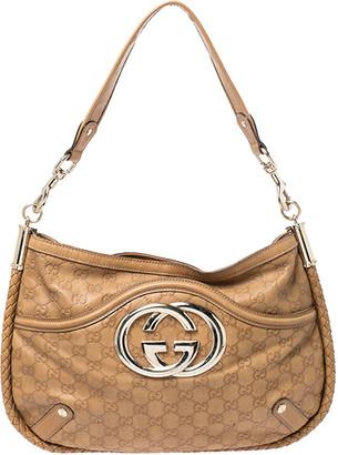 Gucci Tan Guccissima Leather Medium Britt Shoulder Bag
