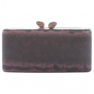Kotur Anthracite Leather Clutch bags
