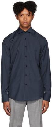 HUGO BOSS Navy Wool Jason Shirt
