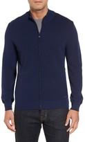 Paul & Shark Men's Pique Zip Wool Sweater