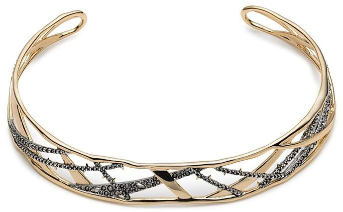 Alexis Bittar Crystal Encrusted Plaid Collar Necklace, 14""