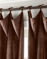 """6009 Parker 132""""L Tie-Top Velvet Curtain"""