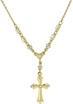 1928 Jewelry 1928 Religious Jewelry Religious Jewelry 16 Inch Link Cross Y Necklace