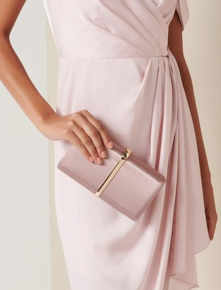 Forever New Noah Metal Clasp Hardcase Clutch - Blush - 00