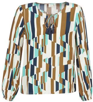 Cream RIANNA women's Blouse in Multicolour