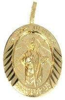 FindingKing 14K Gold Charm Saint Jude Thaddeus Pendant Jewelry 20mm