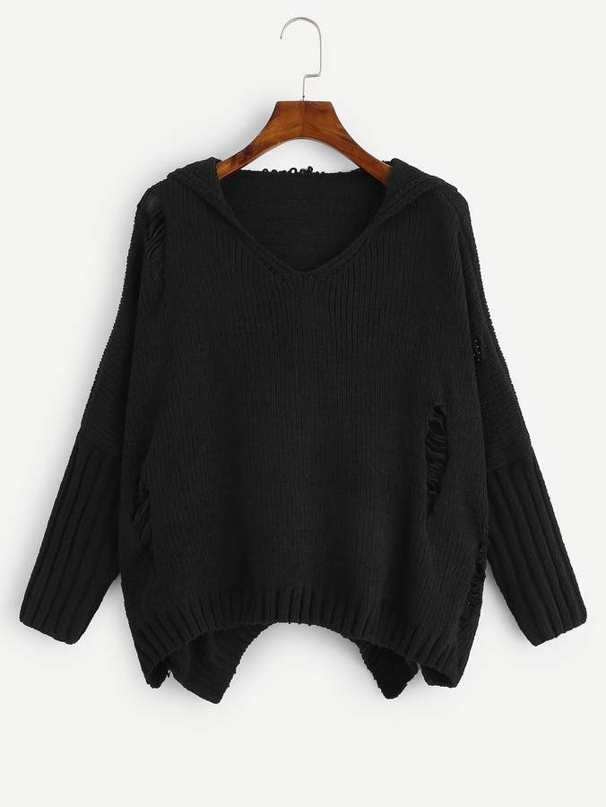 3c559e13c22 Ripped Sleeve Sweater - ShopStyle