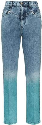 Stella McCartney high-waisted ombre jeans