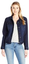 Liverpool Jeans Company Women's Classic Button Front Jacket in Super Comfort Vintage Stretch Denim