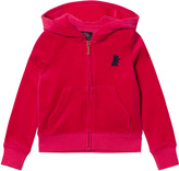 Juicy Couture Red Velour Glitter Hoodie