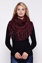 Yumi Chunky Knit Fringe Snood Black