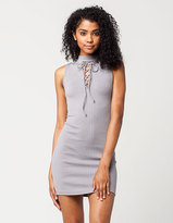 Blu Pepper Lace Up Dress
