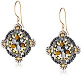 Miguel Ases Swarovski Centric Grey Drop Earrings