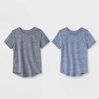 Cat & Jack Toddler Boys' 2pk Heathered Short Sleeve T-Shirts - Cat & JackTM /Navy