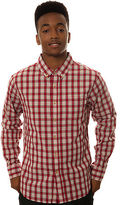 Obey The Prospect Buttondown in Red